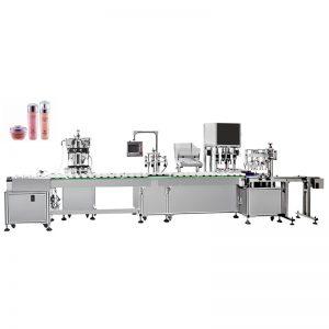 Riempitrice e tappatrice automatica per emulsione acquosa
