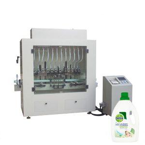 Riempitrice per bottiglie con detergente liquido disinfettante